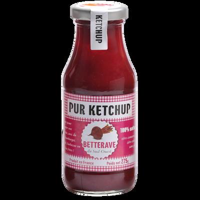 Ketchup de betterave PUR KETCHUP, bocal de 275g