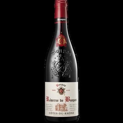 Vin rouge AOP Côtes du Rhône réserve de Bonpas, 75cl