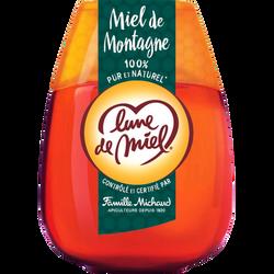 Miel de montagne liquide, LUNE DE MIEL, squeezer de 250g