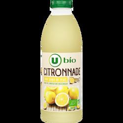 Boisson au jus de citron flash pasteurisée refrigérée U BIO, brique de1L
