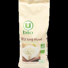 Riz long étuvé Bio U, boîte de 500g