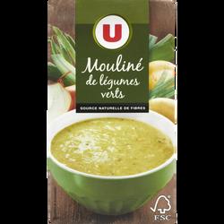 Mouliné légumes verts aromatisé U,  brique de 1 litre