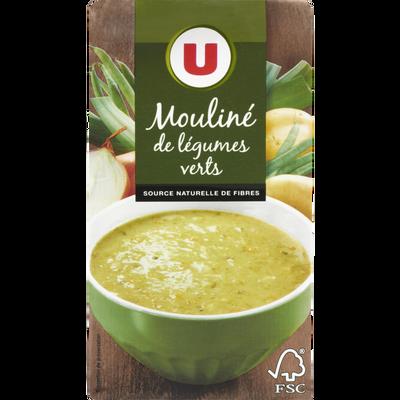Mouliné légumes verts aromatisé U, brique de 1l