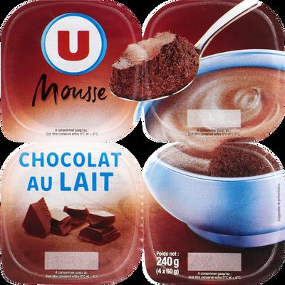 Mousse au chocolat au lait U, 4x60g