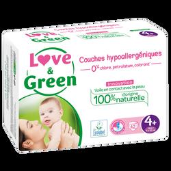 Couches sensitives et écologiques t4+ LOVE&GREEN, x42