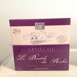 Vin La Bastide des Rocges IGP Ardèche Merlot / Cabernet Vignerons ardéchois 3L