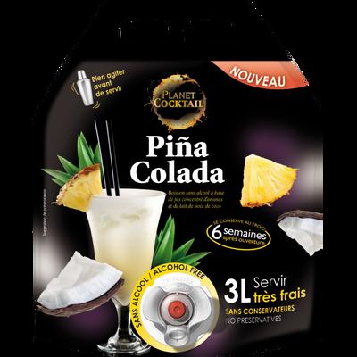 Pina colada sans alcool PLANET COCKTAIL, fontaine de 3l