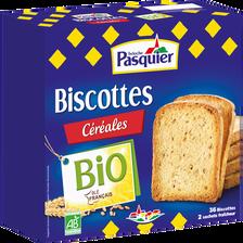 Biscotte bio céréales PASQUIER, boîte de 300g
