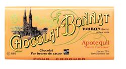 CHOCOLAT NOIR GRAND CRU D'EXCEPTION APOTEQUIL 100G - BONNAT CHOCOLATIER