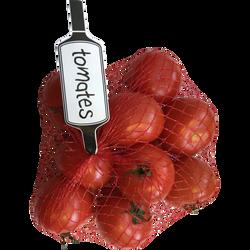 Tomate ronde, Segment Les Rondes, calibre 47/57, catégorie 2, France,filet 1kg
