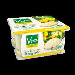 Yaourt brassé citron bio VRAI 4x100g