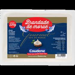 Brandade de morue gourmet COUDENE, barquette de 220g