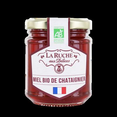 Miel de chataignier de France bio LA RUCHE AUX DELICES, 250g