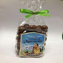 """Chocolat """"Délices de l'Ecureuil"""" noisettes entières du Piémont enrobées de chocolat au lait CHOCOLATERIE DU MONT BLANC 160g"""
