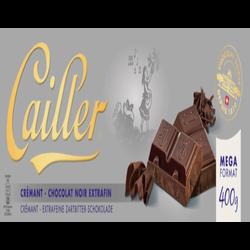 Tablette de chocolat noir crémant CAILLER, 400g