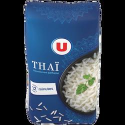 Riz long thaï U, paquet aluminisé de 500g