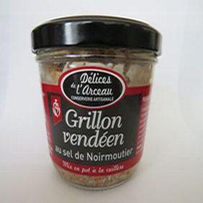 Grillon vendéen au sel de Noirmoutier, 180gr, bocal, délices de l'arceau