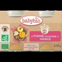Purée de pomme et mangue BABYBIO, 2 pots de 130g