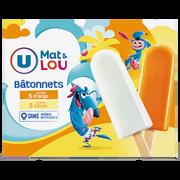 Lou Bâtonnets Glace À L'eau Parfum Orange & Citron U Mat & Lou, X10 550g