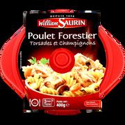 William Saurin Cocottes Poulet Forestier Torsades Et Champignons William Saurin, Barquette Micro-ondable De 400g