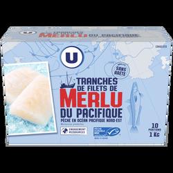 Tranches de filet de merlu du Pacifique surgelés U, 10x100g