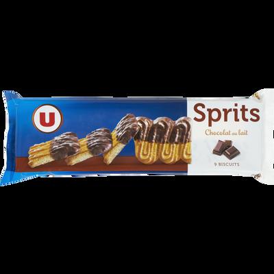 Sprits au chocolat au lait U, paquet de 150g