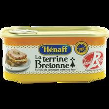 Terrine Bretonne Label Rouge HENAFF, boîte de 1/4, 200g