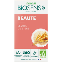 Gélules végétales beauté levure de biére bio BIOSENS X60
