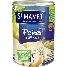 St Mamet Poires William's Au Sirop , Boîte 1/2 De 235g