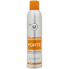 Spray coiffant fixation forte BY U, bombe 300ml