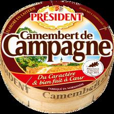 Président Camembert De Campagne Au Lait Pasteurisé, , 22% De Mg, 250g