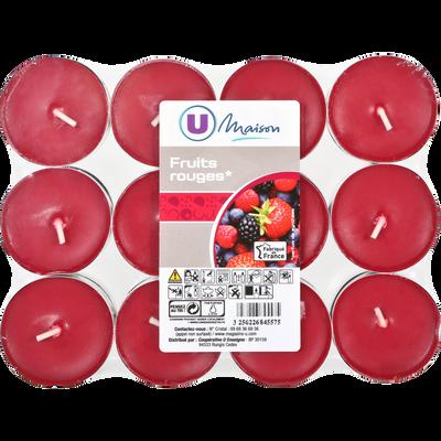 Chauffe-plats U MAISON, rouge/fruits rouges, 24 unités