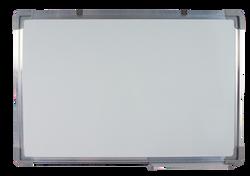Tableau blanc 60x80cm avec un baguette aluminium