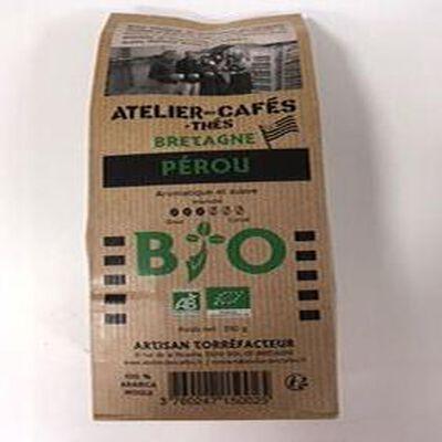 café moulu bio pérou 250 gr atelier des cafés