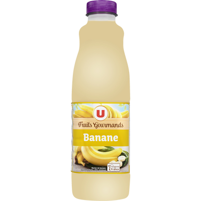"Jus à la banane ""fruits gourmands"" U, bouteille de 1l"