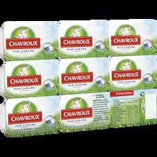 Fromage au lait de chèvre pasteurisé CHAVROUX, 13,5% de MG,  9 portions soit 162g