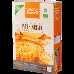 Préparation pour pâte brisée sans gluten BIO MON FOURNIL, 2x200g soit400g