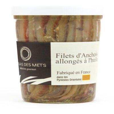 Filets d'anchois de Collioure à l'huile végétale 200g