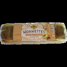 Nonnettes au miel 21% fourrées aux abricots MIELS VILLENEUVE, paquet de 150g