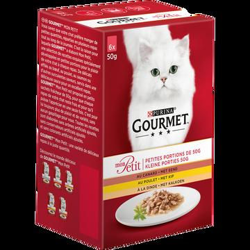 Gourmet Gourmet Mon Petit Volaille,pour Chat Adulte Sachets Repas 6x50g