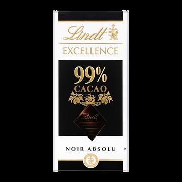 Lindt Chocolat Excellence Noir 99% De Cacao Lindt, Tablette De 50g