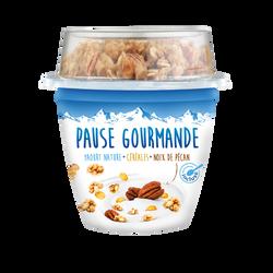 Yaourt sucré avec mélange de céréales et noix de Pécan PAUSE GOURMANDE, 225g