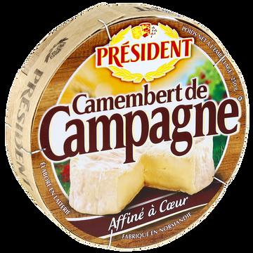 Président Camembert De Campagne Au Lait Pasteurisé Président, 22%mg, 250g
