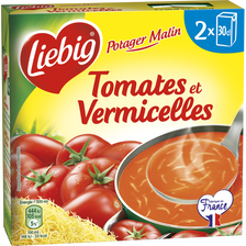Potager Malin tomates & vermicelles LIEBIG, 2 briques de 30cl
