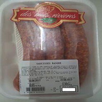 Saucisses basques, CHARCUTERIE 3 RIVIERES, barquette de 3 pièces