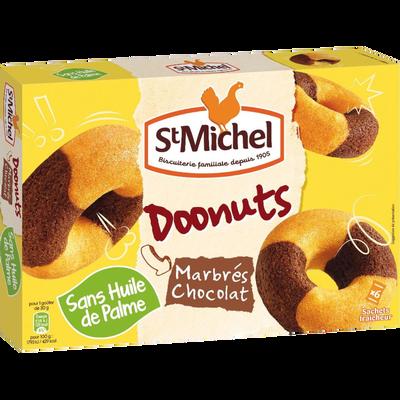 Doonuts marbrés chocolat, SAINT MICHEL, paquet, 180g