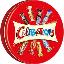 Célébrations Chocolats Assortis , Boîte Métal De 435g