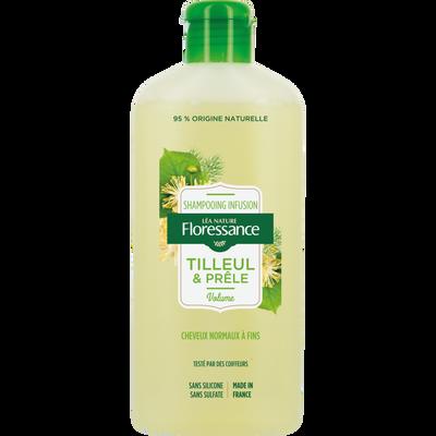 Shampooing  infusion au tilleul & prêle FLORESSANCE, flacon de 250ml