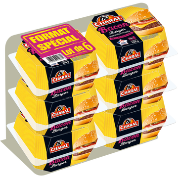 Charal Bacon Cheese Charal, 6x155g Soit 930g
