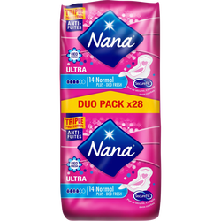 Serviette ultra normal plus deo-fresh dryfast NANA, jumbo pack de 28